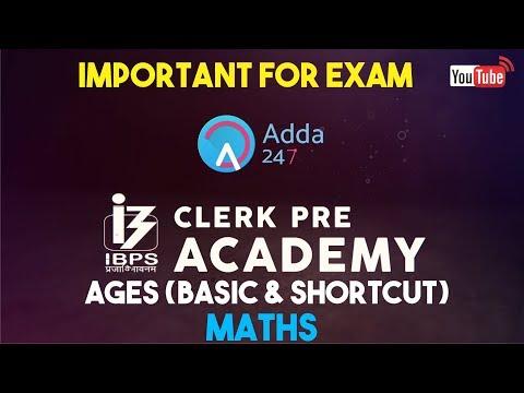 IBPS CLERK PRE | Ages (Basic & Shortcut) | Maths |  Online Coaching for SBI IBPS Bank PO