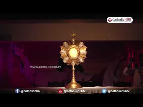 Eucharistic Adoration by Rev Fr Sam VC  Youth Retreat@Logos Retreat Centre,Bangalore,KA  12 05 17