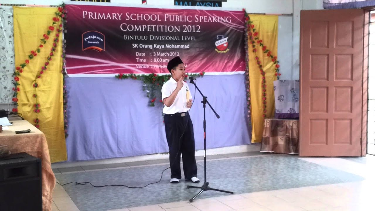 public speaking speech unity in malaysia Spm sample of essays - directed writing directed  of dried leaves and garbage done by the public are a few  give a speech on the 'tak nak campaign.
