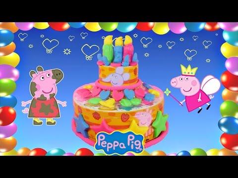 Peppa's Birthday Cake Dough Play Set Peppa Pig Peppapig English Full Episode Playset