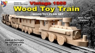 Wood Toy Plans - Vintage 1955 Wood Toy Train