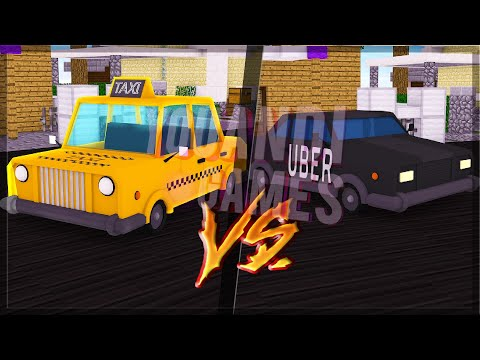CARRO DE UBER VS CARRO DE TAXI no MINECRAFT