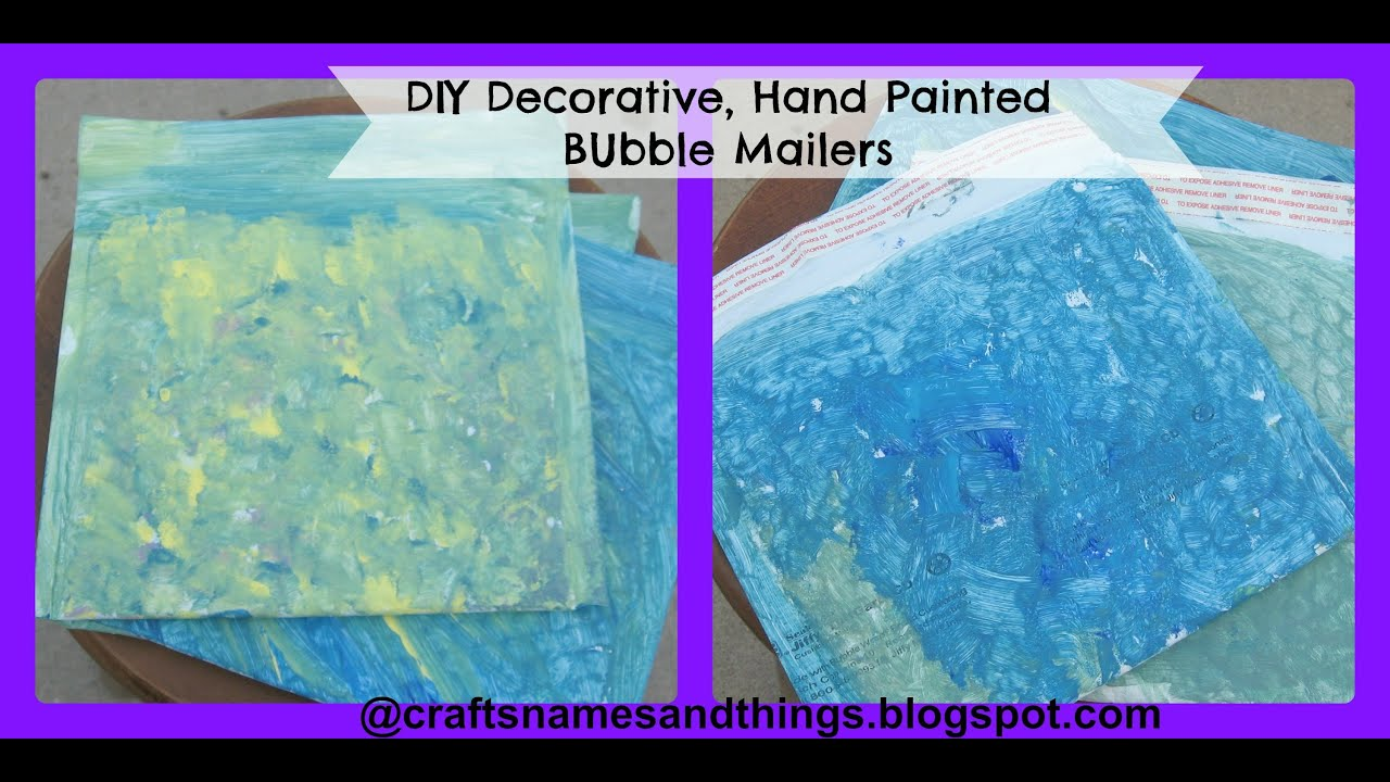 DIY Decorative, Hand Painted Bubble Mailers / How to make your own
