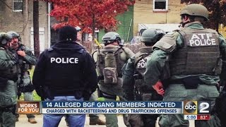 Alleged BGF gang members indicted on federal racketeering charges