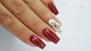 Rowanberry nails art Tutorial / Sunflower Professional #berrynailsart