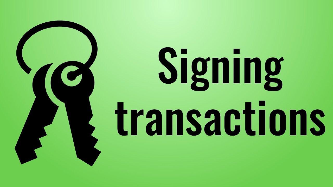 Signing Transactions (Javascript blockchain, part 4) | Savjee be