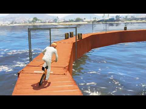 Intense BMX Water Parkour (GTA 5 Funny Moments)