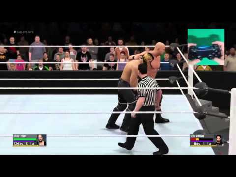 PLACE OPPONENT STUNNED ON MIDDLE ROPE