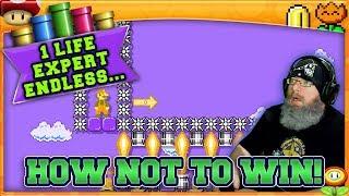 HOW NOT TO WIN! - Super Mario Maker 2 1 Life Expert No Skip Challenge with Oshikorosu [4]!