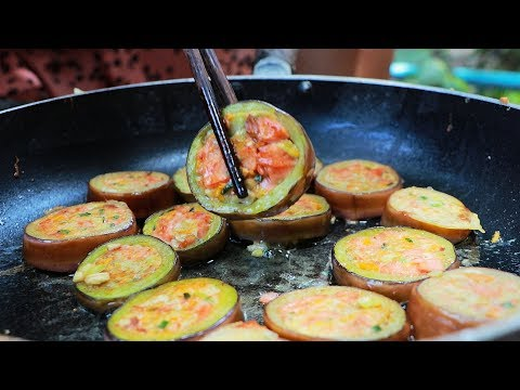 Yummy Eggplant Circle Cooking – Tasty Eggplant Recipe – Cooking With Sros