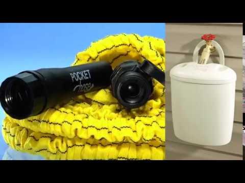 pocket hose ultra ii seau de rangement tuyau d 39 arrosage extensible best of tv youtube