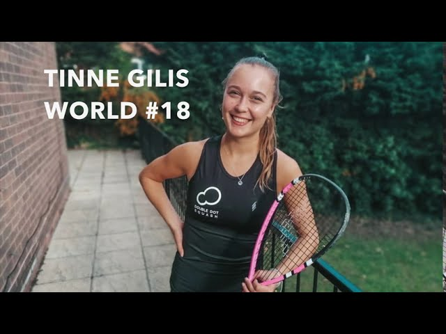 Tinne Gilis (PSA World #18) signs with Double Dot Squash