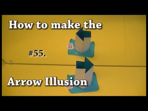 #55. How To Make The Arrow Illusion. The Arrow Always Points To The Right.