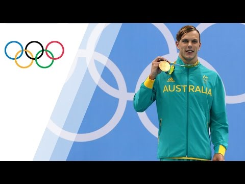 Australia's Chalmers wins gold in Men's 100m Freestyle