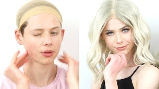 Transforming myself into A WOMAN! Extreme drag transformation ft. Flawless Kevin