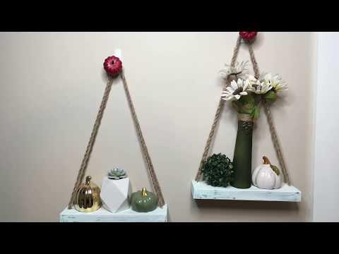 DOLLAR TREE DIY | MINI HANGING SHELVES