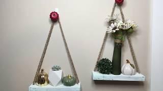DOLLAR TREE DIY   MINI HANGING SHELVES