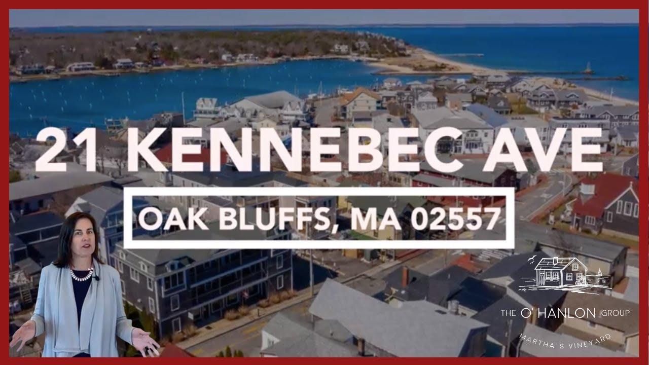 21 Kennebec Ave. Oak Bluffs, MA   Martha's Vineyard Condo for Sale