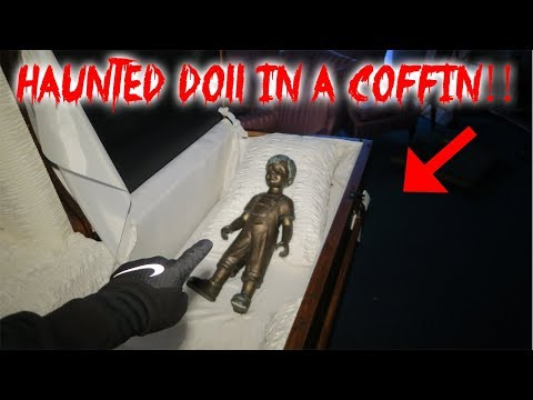 I FOUND A HAUNTED DOLL IN A COFFIN & THIS HAPPENED! ** HAUNTED FUNERAL HOME** | MOE SARGI