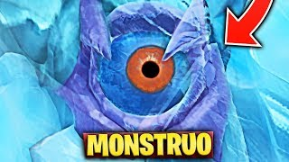 NEW EVENT WITH THE EYE OF THE GIANT MONSTER OR GODZILLA X FORTNITE SECRETS À PICO POLAR