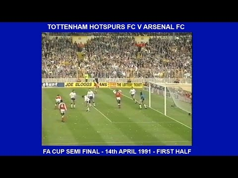 TOTTENHAM HOTSPURS FC V ARSENAL FC-LIVE MATCH-3-1-FA CUP SEMI FINAL-14TH APRIL 1991-WEMBLEY - PART 2