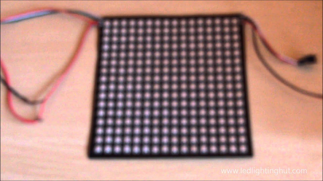 Best 16x16 NeoPixel WS2812B Digital Flexible LED Panel (Matrix