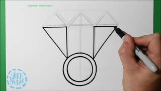 Spiral Draw a Diamond Ring
