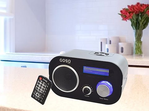 GOSO Wifi Internet Radio Music Player with FM Radio and Alarm Clock