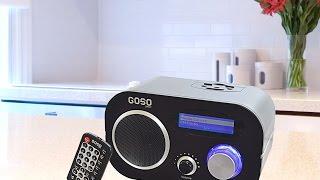 GOSO Wifi Internet Radio Music Player with FM Radio and Alarm Clock
