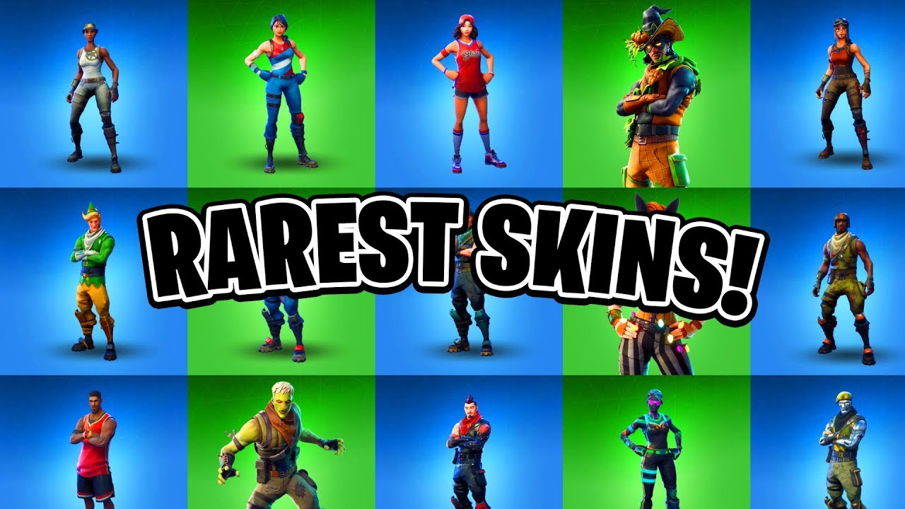 Top 10 Rarest Fortnite Skins Ever Rarest Item Shop Skins Youtube