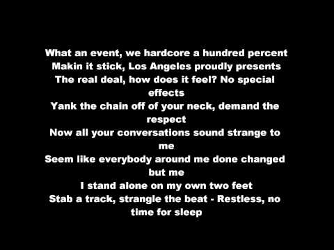 Xzibit - X (HD & Lyrics On Screen) Lyrics