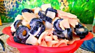 Салат с грибами и картошкой. Ну очень вкусный салат.