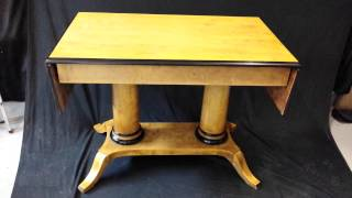 Antique Swedish Biedermeier Drop Leaf Table With 2 Posts For Sale Www.swedishinteriordesign.co.uk