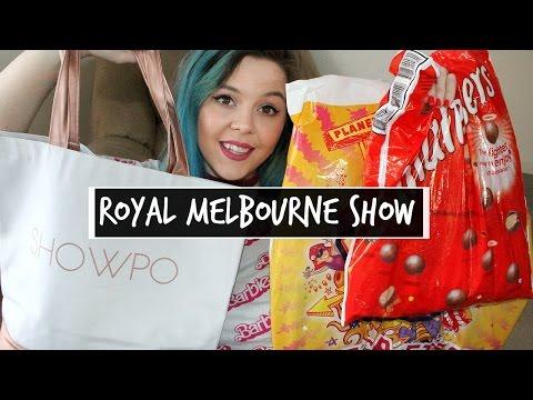 ROYAL MELBOURNE SHOW - SHOWBAG HAUL 2016 | Silverfoxxbeauty