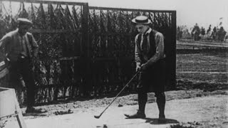 Charlie Chaplin & Buster Keaton in GOLF ANTICS