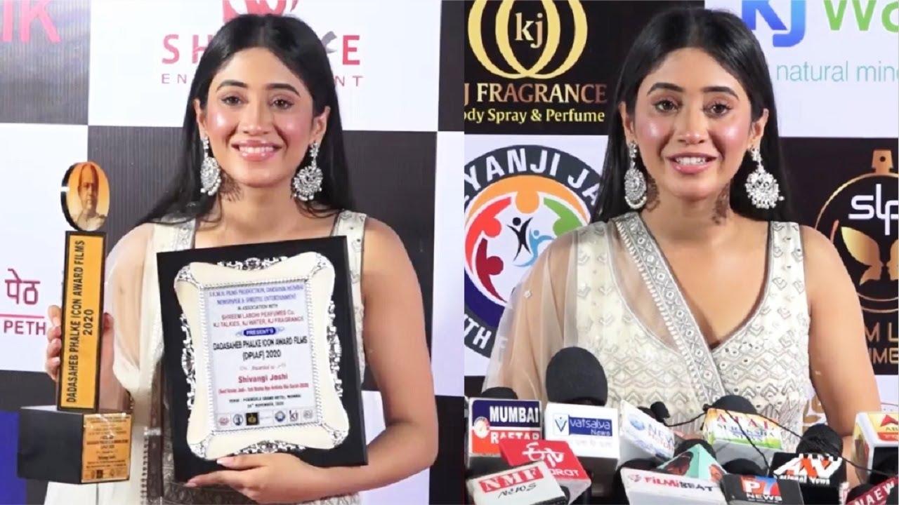 Shivangi Joshi MISSING Mohsin Khan At Dadasaheb Phalke Award 2020