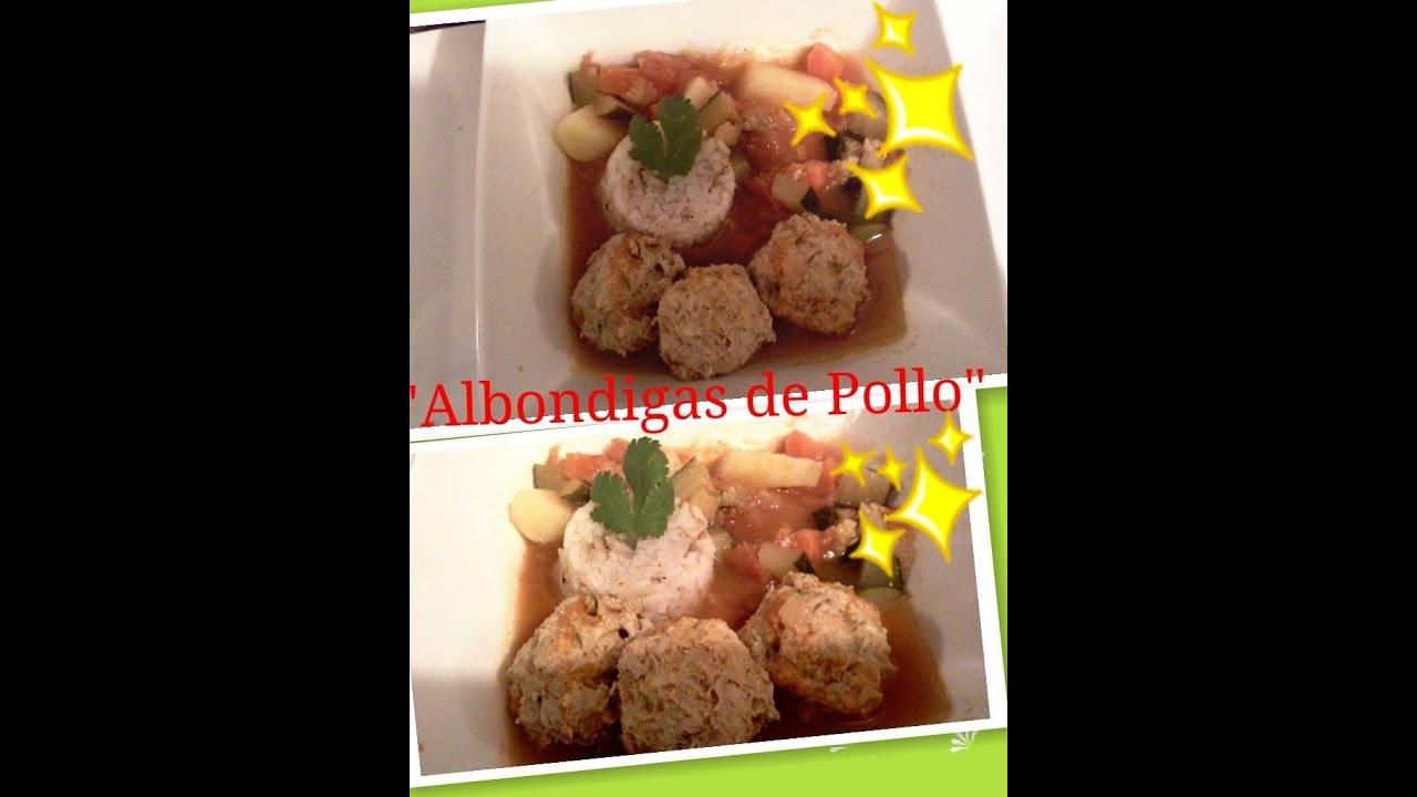Albondigas de pollo con verduras receta saludable youtube for Albondigas de verduras