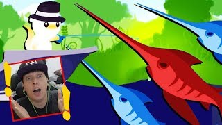 Pesquei Um Peixe Gigante Com Barco  - Cat Goes Fishing  02