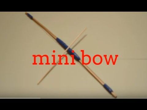 How to make a Mini Paper Bow  - Mini Weapon