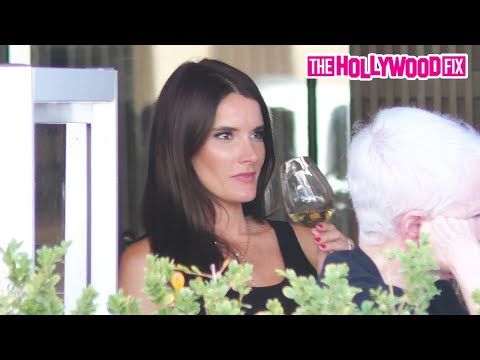 Christina Pascucci From KTLA 5 News In Los Angeles Has Lunch With A Friend At Avra In Beverly Hills