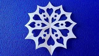 Как вырезать простую снежинку из бумаги. Новогодние поделки.Paper snowflakes handmade.