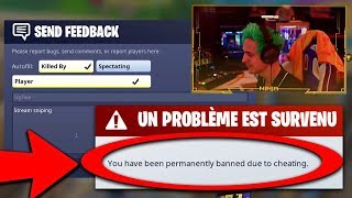 I stream sniped Ninja and get BANNED FOR CHEATING in Fortnite.. ft. MaximilianMus