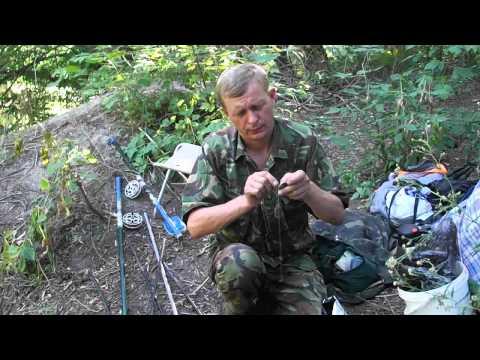 монтаж оснастки для ловли сазана на течении