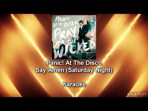 Panic! At The Disco - Say Amen (Saturday Night) (Karaoke)