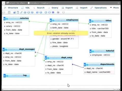 phpMyAdmin tutorial at Debconf13, part 2 : relation between tables