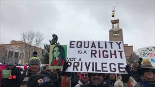 Women's March On Washington Santa Fe 2017 Clip 1 - FemenineMediaNetwork.com