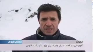 ثلوج في مرتفعات جبال ولاية تيزي وزو في الجزائر