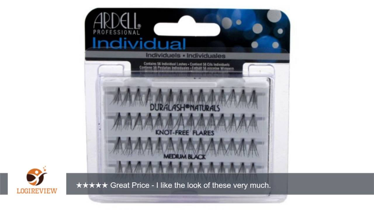 3e9bc3d983f Ardell Duralash Naturals Flares Knot-free Medium Black (56 Lashes) (Case of  6) | Review/Test