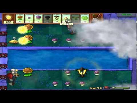Plants vs zombies (Trồng cây bắn zombie) - Cấp độ 4-6 (Game Việt Hóa)