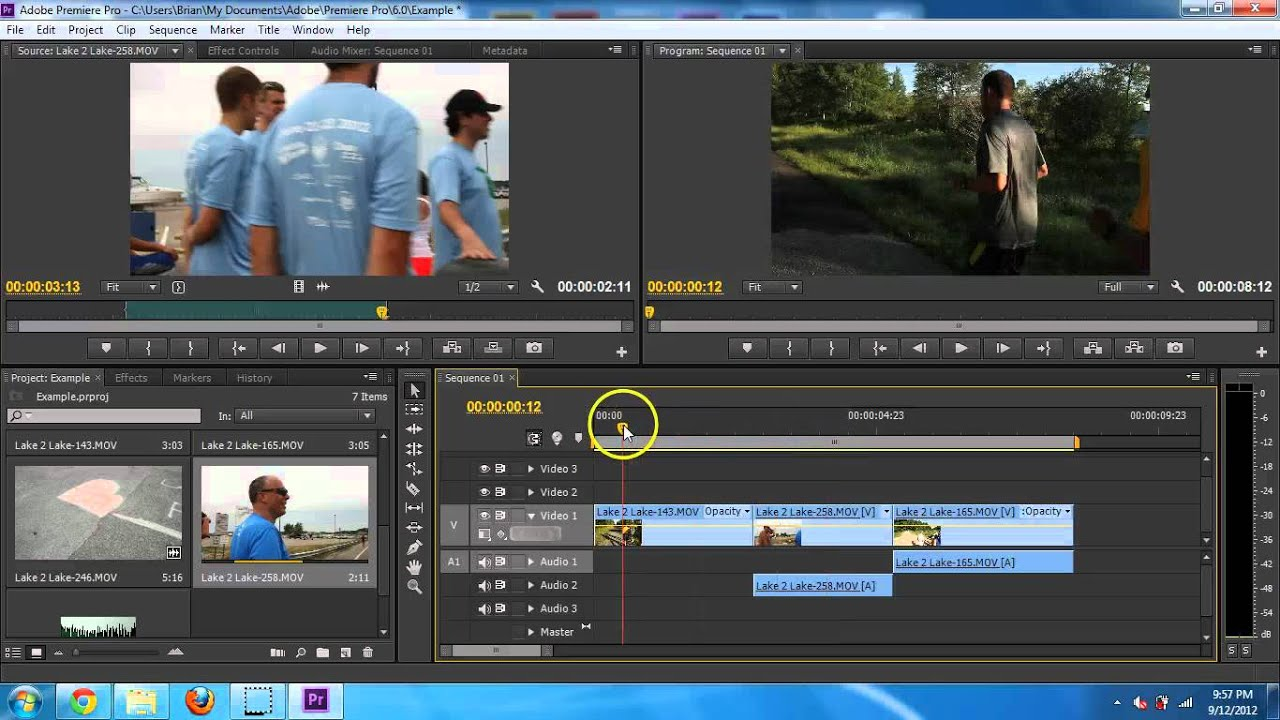 adobe premiere editing video